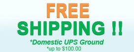 Free Shipping! Domestic UPS Ground up to $100.